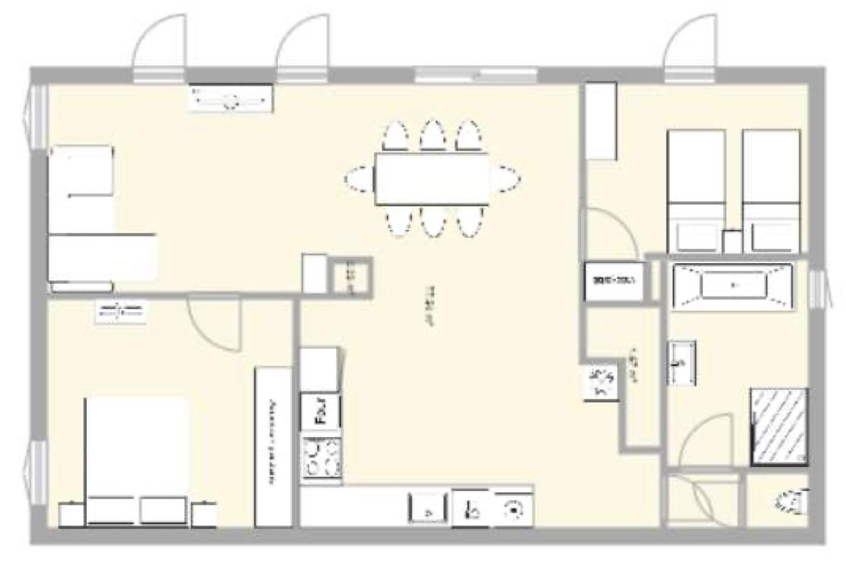Plan appartement - Le Riviera